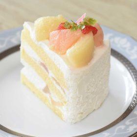 もものショートケーキ
