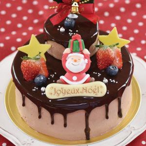 プレゼントサンタのチョコケーキ