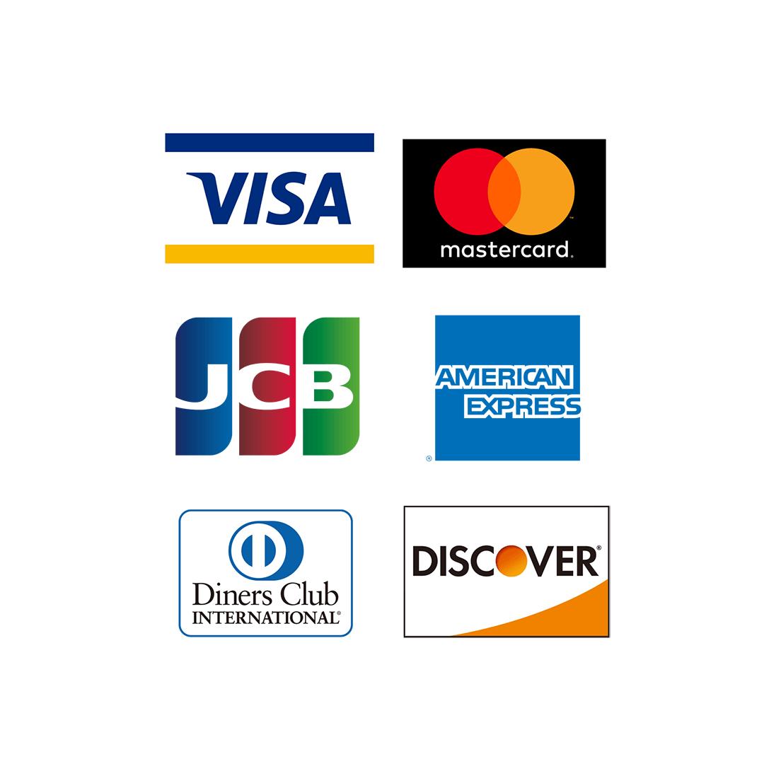VISA / MASTER / JCB / AMEX / Diners / DISCOVER